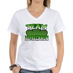 Team Leprechaun Women's V-Neck T-Shirt