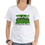 Team Green Women's V-Neck T-Shirt