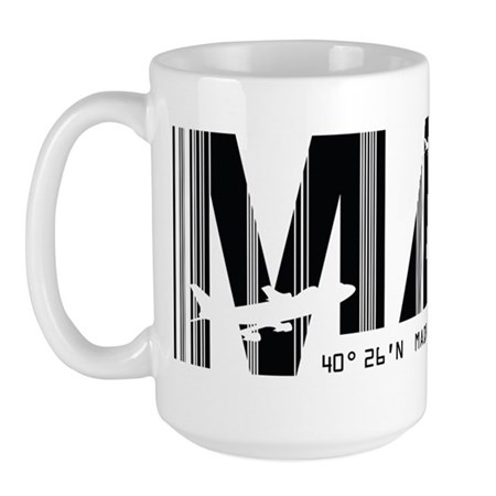 Madrid Spain MAD Air Wear Large Mug