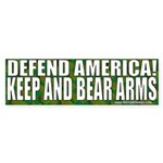 Keep and Bear Arms Camo Bumper Sticker