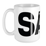 San Diego California SAN Air Wear Large Mug