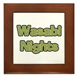 Wasabi Nights Framed Tile