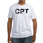Cape Town Airport CPT South Africa Fitted T-Shirt