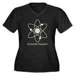 Eucharist Powered Women's Plus Size V-Neck Dark T-