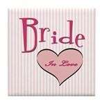 Bride in Love Tile Coaster
