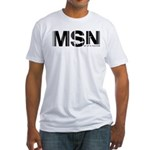 Madison Airport Code Wisconsin MSN Fitted T-Shirt