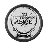 Betting On Alice Large Wall Clock