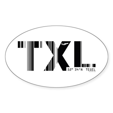Berlin Tegel Airport Germany TXL Oval Sticker