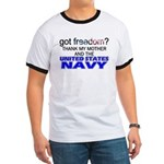 Got Freedom? Navy (Mother) Ringer T