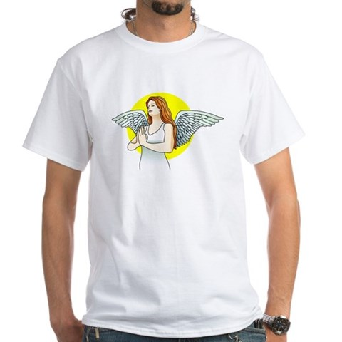 CafePress > T-shirts > Angel Prayer Tattoo Art Shirt. Angel Prayer Tattoo Art Shirt