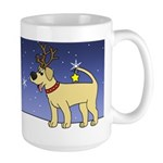 Reindeer Yellow Lab Large Mug