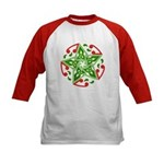 Celtic Christmas Star Kids Baseball Jersey