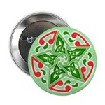 "Celtic Christmas Star 2.25"" Button"