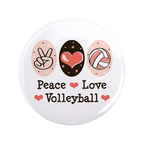Peace Love Volleyball 3.5quot;