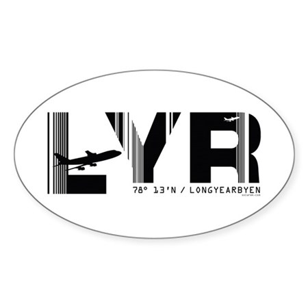 Longyearbyen Airport Norway LYR Oval Sticker