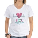 PICU Keeping the beat all day Women's V-Neck T-Shi