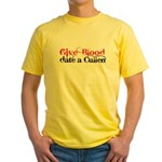 Give Blood Date a Cullen Yellow T-Shirt