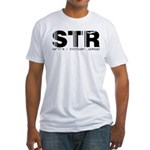 Stuttgart Airport Code Germany STR Fitted T-Shirt