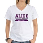 Alice, Quirkier Than You. Women's V-Neck T-Shirt
