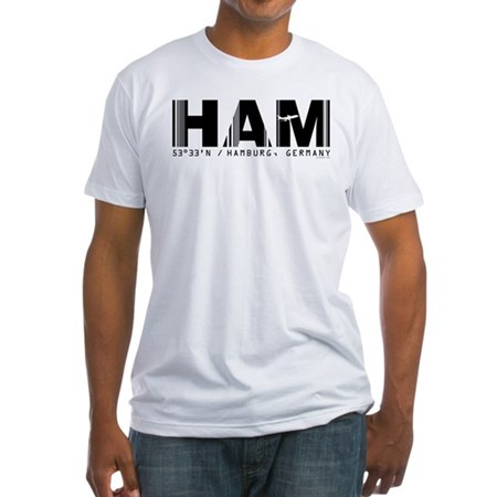Hamburg Airport Code Germany HAM Fitted T-Shirt