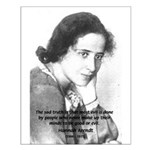 Philosopher: Hannah Arendt Small Poster