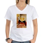 Mardi Gras Women's V-Neck T-Shirt