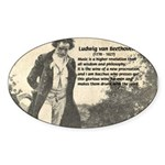 Ludwig van Beethoven Oval Sticker