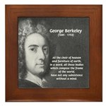 Irish Idealist: George Berkeley Framed Tile
