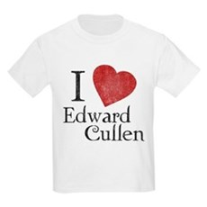 I Love Edward Cullen Kids Light T-Shirt