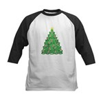 Celtic Christmas Tree Kids Baseball Jersey