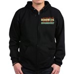 Recycled Homework Zip Hoodie (dark)