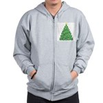 Celtic Christmas Tree Zip Hoodie