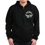 Do It Froggy Style Zip Hoodie (dark)