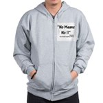 Compliance No Means No Zip Hoodie
