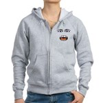 Shocked Cartoon Face Women's Zip Hoodie