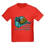 Couch Potato Jogging Kids Dark T-Shirt
