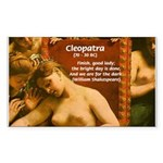 Death of Cleopatra Rectangle Sticker