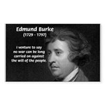 Politics: Edmund Burke Rectangle Sticker