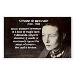 Simone De Beauvoir Rectangle Sticker