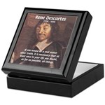 Philosopher: Rene Descartes Keepsake Box