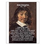 Philosopher Rene Descartes Small Poster