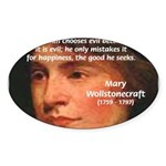 Feminist Mary Wollstonecraft Oval Sticker