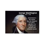 Politics: George Washington Rectangle Magnet (10 p
