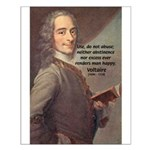 French Philosopher: Voltaire Small Poster
