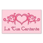 La Tua Cantante Rectangle Sticker 10 pk)