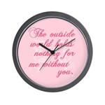 Twilight Valentine Wall Clock
