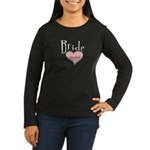 Bride in Love Women's Long Sleeve Dark T-Shirt