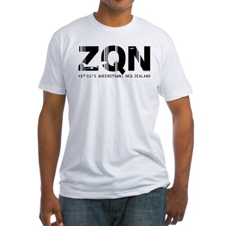 Queenstown Airport New Zealand ZQN Fitted T-Shirt