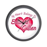 Edward Cullen Heart Wall Clock
