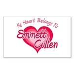 Emmett Cullen Heart Rectangle Sticker